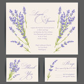 Wedding invitation card — Stockvektor