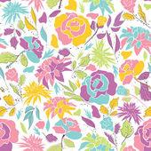 无缝模式与涂鸦花. — 图库矢量图片