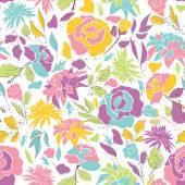 Nahtlose Muster mit Doodle Blumen. — Stockvektor