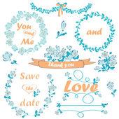 Wedding collection — Stock Vector