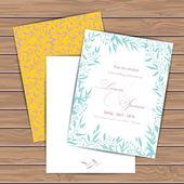 Поздравительные открытки с цветами — Cтоковый вектор
