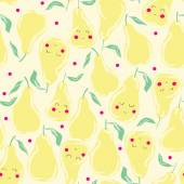 Seamless pattern with pears — Stock Vector