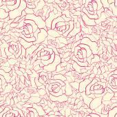 Nahtlose Muster mit Blumen. — Stockvektor