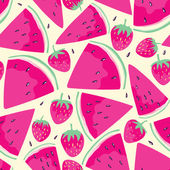 Watermelon slices seamless pattern — Stok Vektör