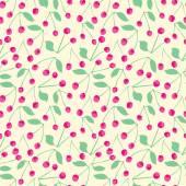 Cherry seamless pattern — Stock Vector
