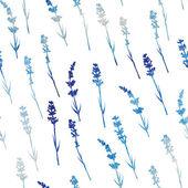 无缝的水彩薰衣草模式. — 图库矢量图片