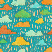 Clouds and rain. — Stock Vector