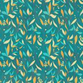 Seamless pattern with colorful leaves. — Stock Vector