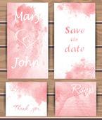 Wedding vector card templates. — Stock Vector