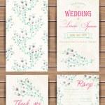 Floral vector card templates. — Stock Vector #77050371