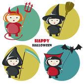 Disfraz de Halloween — Vector de stock