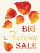 Autumn Sale poster. — Stock Vector