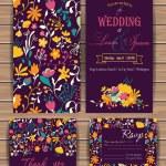 Постер, плакат: Floral vector card templates