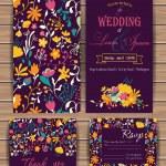 ������, ������: Floral vector card templates