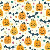 Halloween seamless pattern — Stock Vector