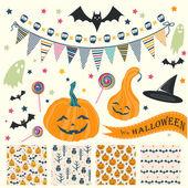 Halloween naadloze patronen — Stockvector
