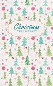 Christmas tree market lettering — Stock Vector