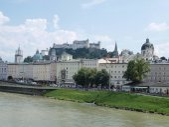 Fortress Hohensalzburg, the city of Salzburg — Stock Photo