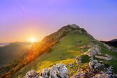 Sunrise in Urkiola mountain range — Stock Photo