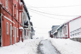 Barrionuevo village avec de la neige — Photo