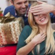 Guess, for whom is next Christmas present — Stock Photo #52119459