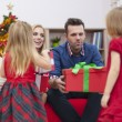 Girls! Santa Claus is coming! — Stock Photo #52119767