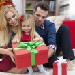 Family relaxing in Christmas time — Stock Photo #52119959