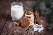 Cookies and milk for Santa Claus — Stock Photo