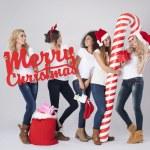 Teenage girls during the Christmas — Stock Photo #59081901