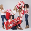 Teenage girls during the Christmas — Stock Photo #59082189
