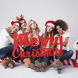 Teenage girls during the Christmas — Stock Photo #59082193