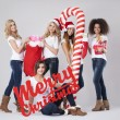 Teenage girls during the Christmas — Stock Photo #59083405