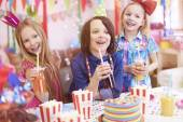 Children on the birthday party — Stock Photo