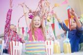 Birthday party with the best friends — Stock Photo