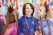 Children on the birthday party — Stock Photo