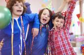 Party hard of group of boys — Stock Photo