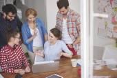 Creativity team working together — Stock Photo