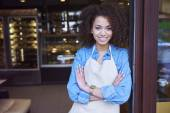 Young cafe owner — Stock Photo