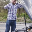 Man has problems with car — Stock Photo #72813565