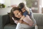 Happy mother with her cute daughter — Stock Photo