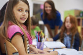 Little children while lesson — Stock Photo