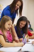 Little children while lesson — Stock Photo