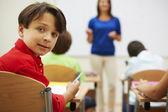 Little children in primary school — Stock Photo