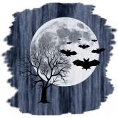 Creepy nocturnal landscape — Stock Photo