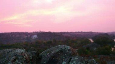 Granite Boulders before Sunrise — Stock Video