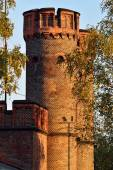 Friedrichsburg gate at sunset. Kaliningrad (formerly Koenigsberg — Stock Photo