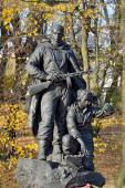 Memorial to Warrior - scout in Victory Park, Kaliningrad, Russia — Stock Photo