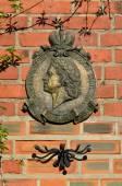Memorial sign in honor of Peter 1. Kaliningrad (formerly Koenigsberg), Russia — Stock fotografie