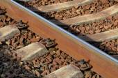 Rail and sleepers — Stock Photo