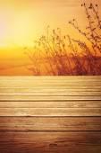 Empty wooden floor background — Stock Photo